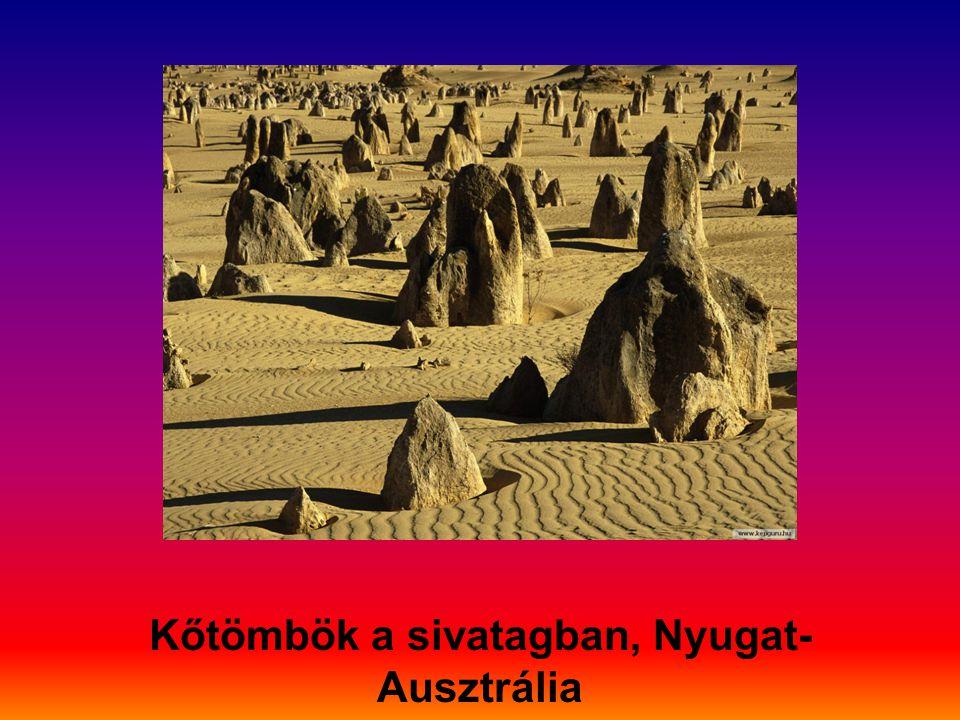 Kőtömbök a sivatagban, Nyugat-Ausztrália