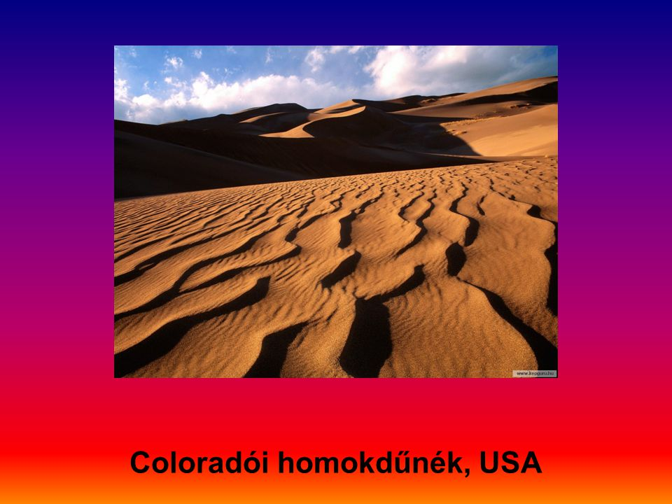 Coloradói homokdűnék, USA