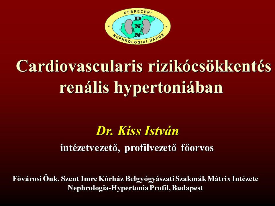 Cardiovascularis rizikócsökkentés renális hypertoniában