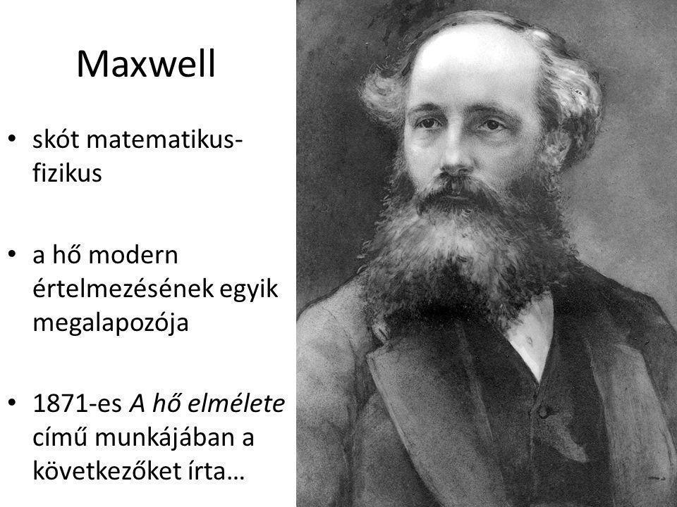 Maxwell skót matematikus-fizikus