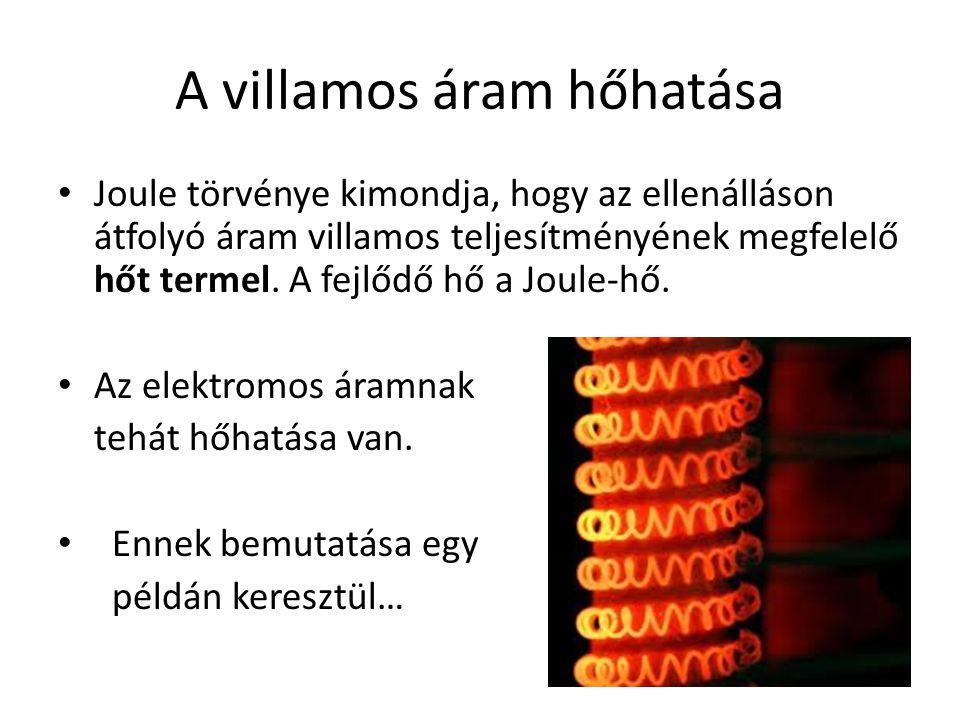 A villamos áram hőhatása