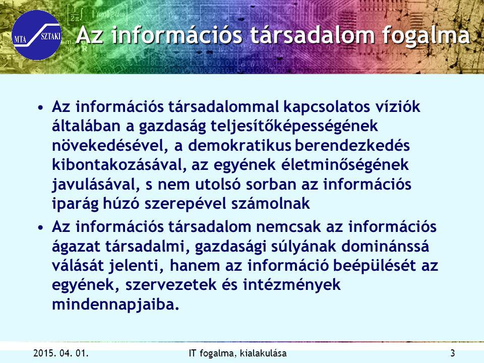 Az információs társadalom fogalma
