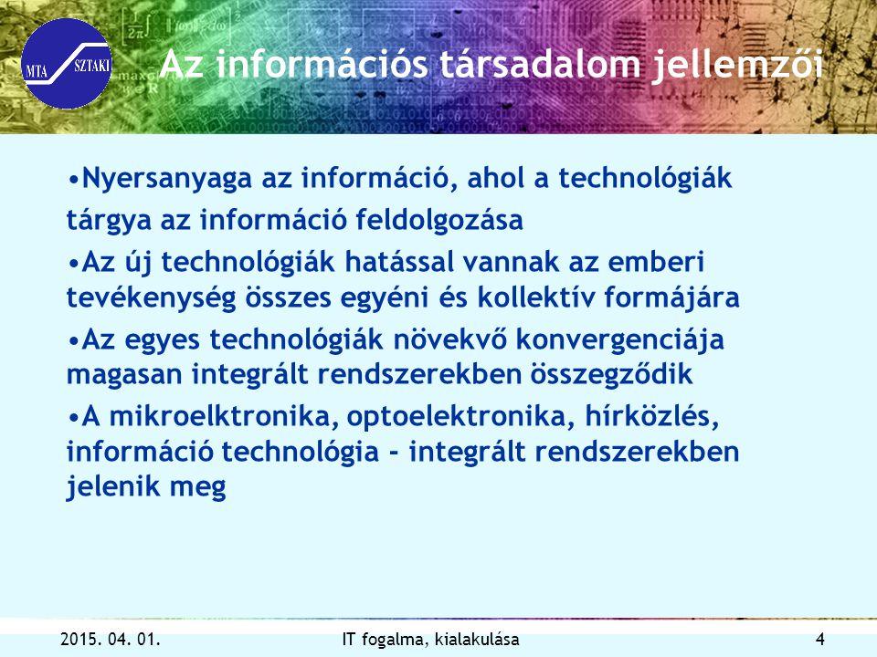 Az információs társadalom jellemzői