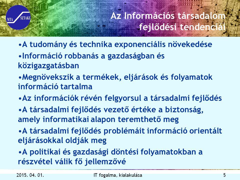 Az Információs társadalom fejlődési tendenciái