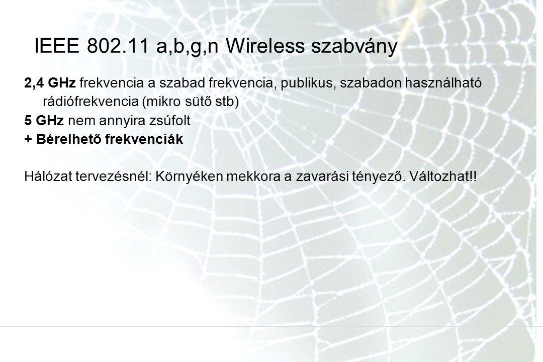 IEEE 802.11 a,b,g,n Wireless szabvány