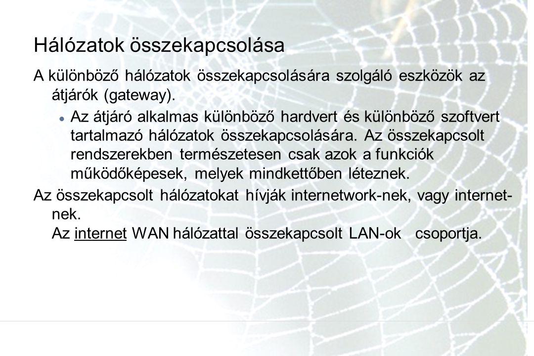 Hálózatok összekapcsolása