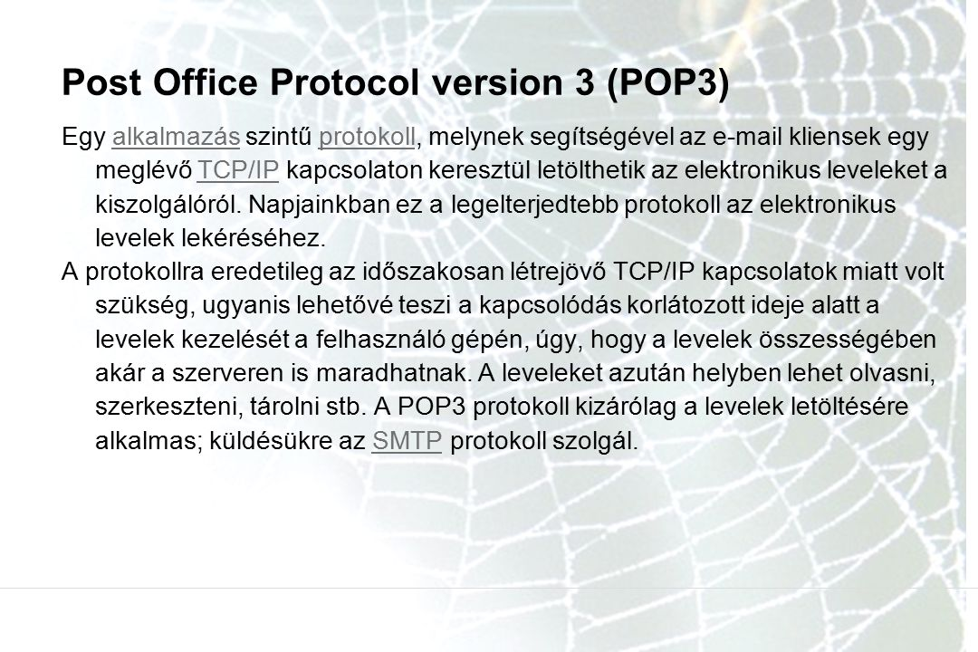 Post Office Protocol version 3 (POP3)