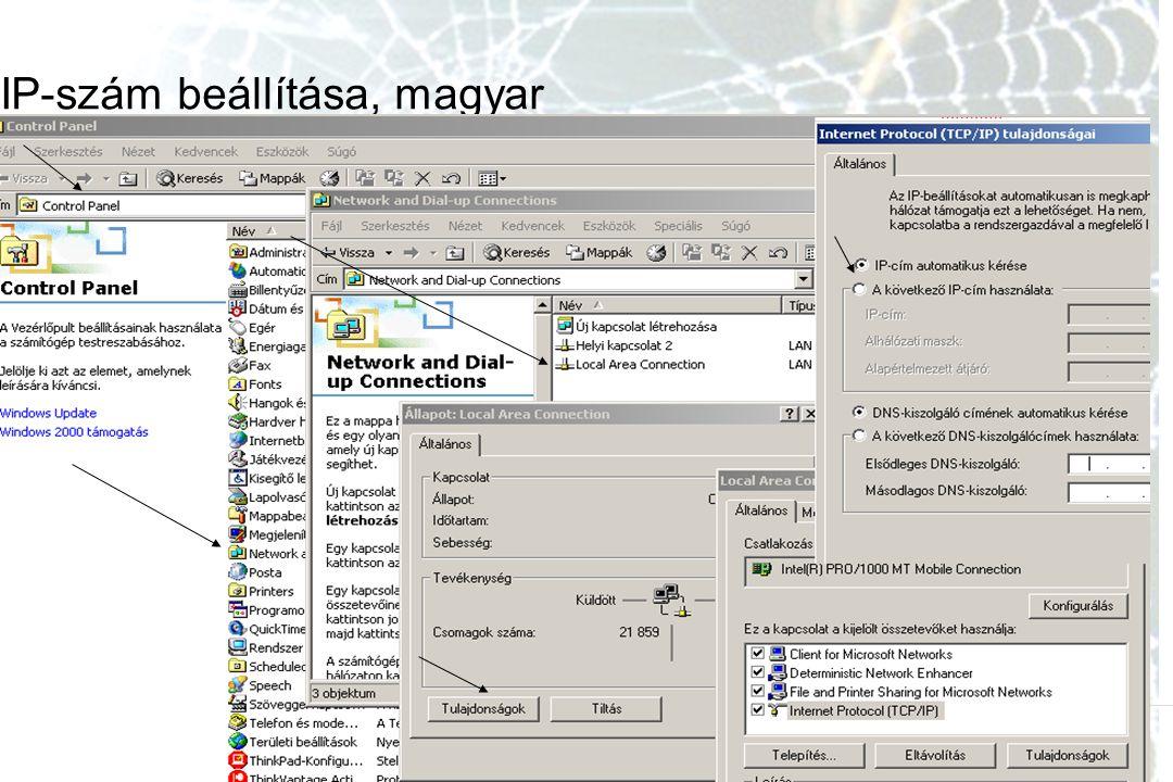 IP-szám beállítása, magyar