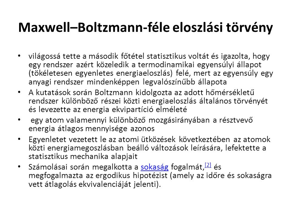 Maxwell–Boltzmann-féle eloszlási törvény
