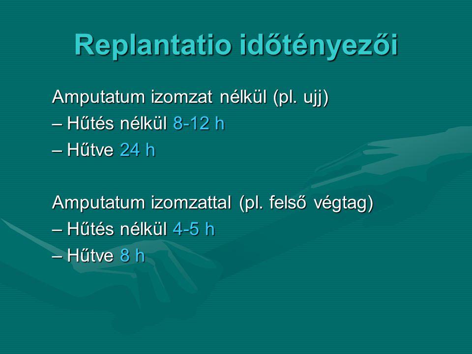 Replantatio időtényezői