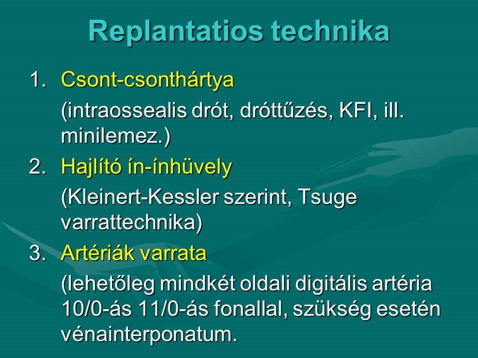 Replantatios technika