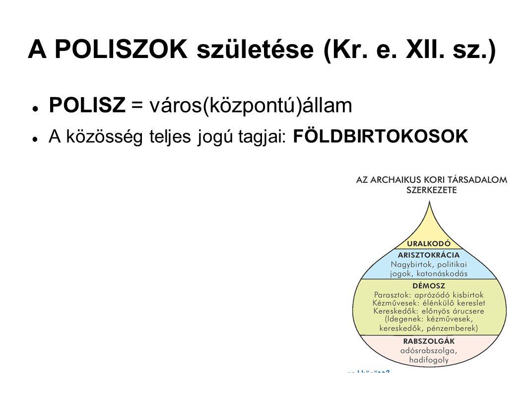 A POLISZOK születése (Kr. e. XII. sz.)