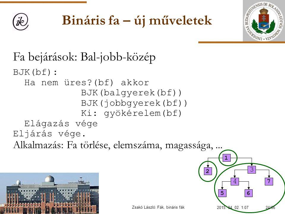 Bináris fa – új műveletek