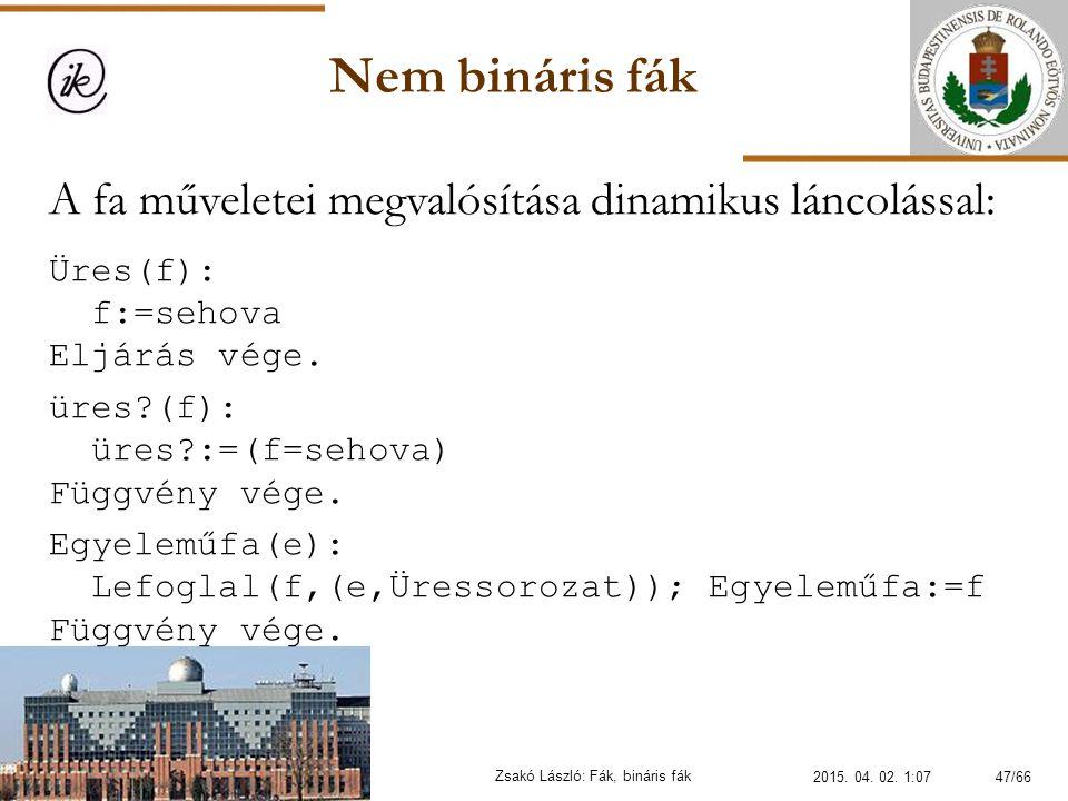 Zsakó László: Fák, bináris fák