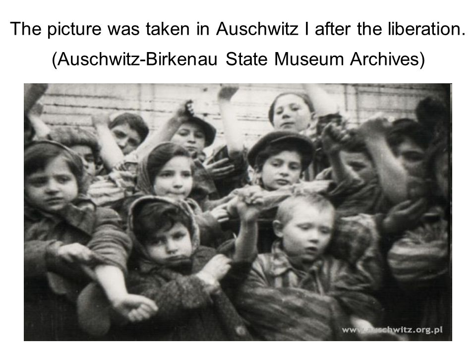 The picture was taken in Auschwitz I after the liberation