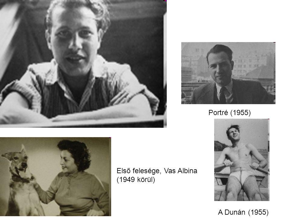 Portré (1955) Első felesége, Vas Albina (1949 körül) A Dunán (1955)