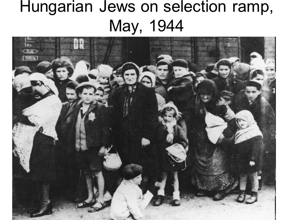 Hungarian Jews on selection ramp, May, 1944