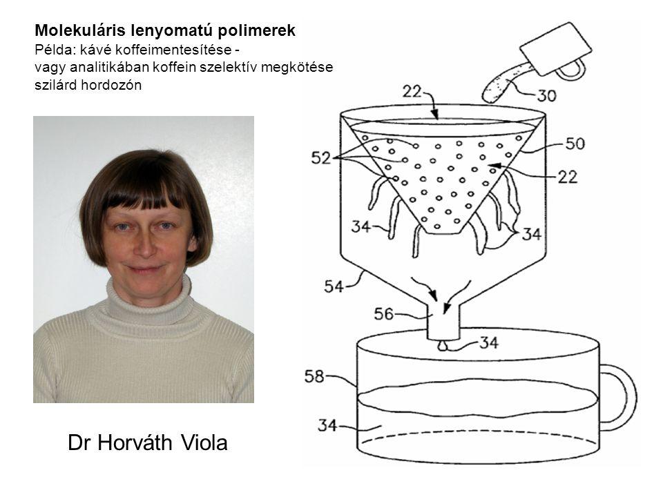 Dr Horváth Viola Molekuláris lenyomatú polimerek