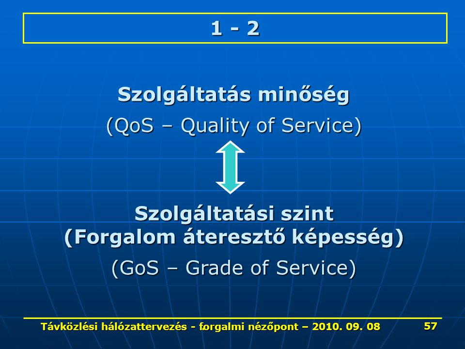 (QoS – Quality of Service)