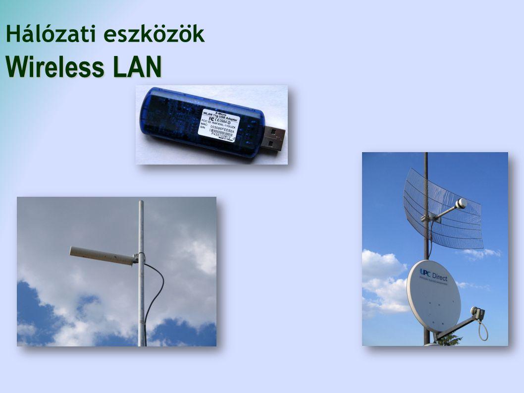Hálózati eszközök Wireless LAN