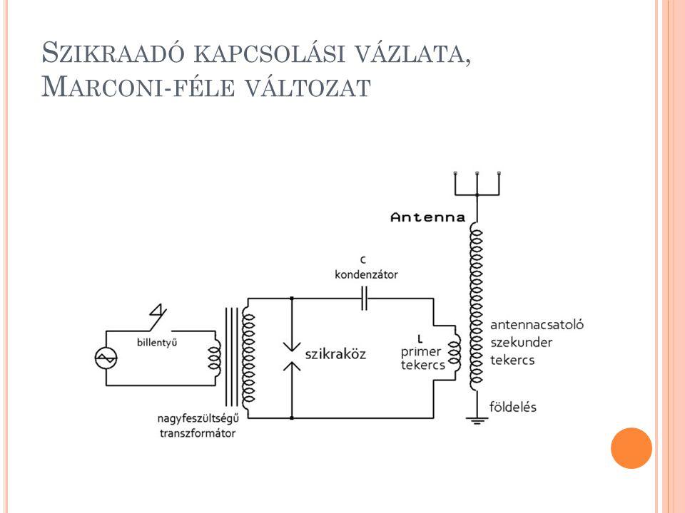 Szikraadó kapcsolási vázlata, Marconi-féle változat