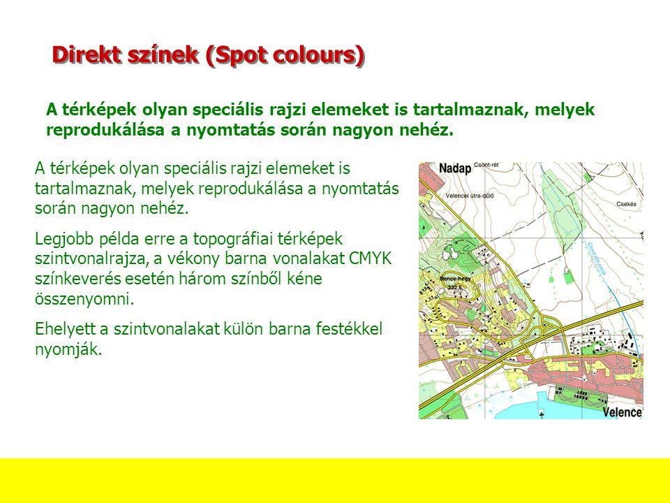 Direkt színek (Spot colours)