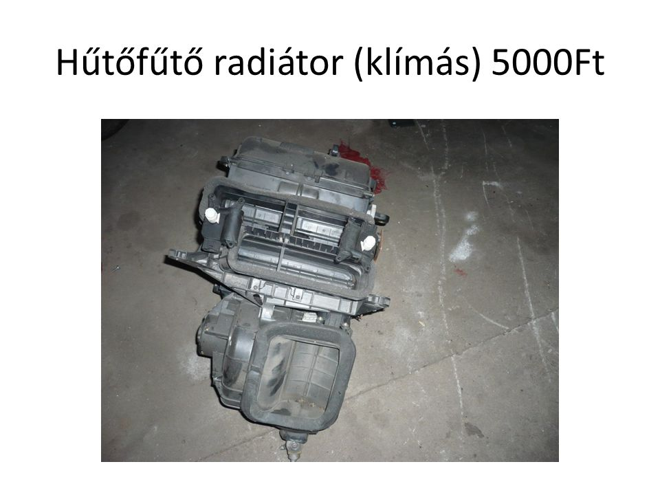 Hűtőfűtő radiátor (klímás) 5000Ft