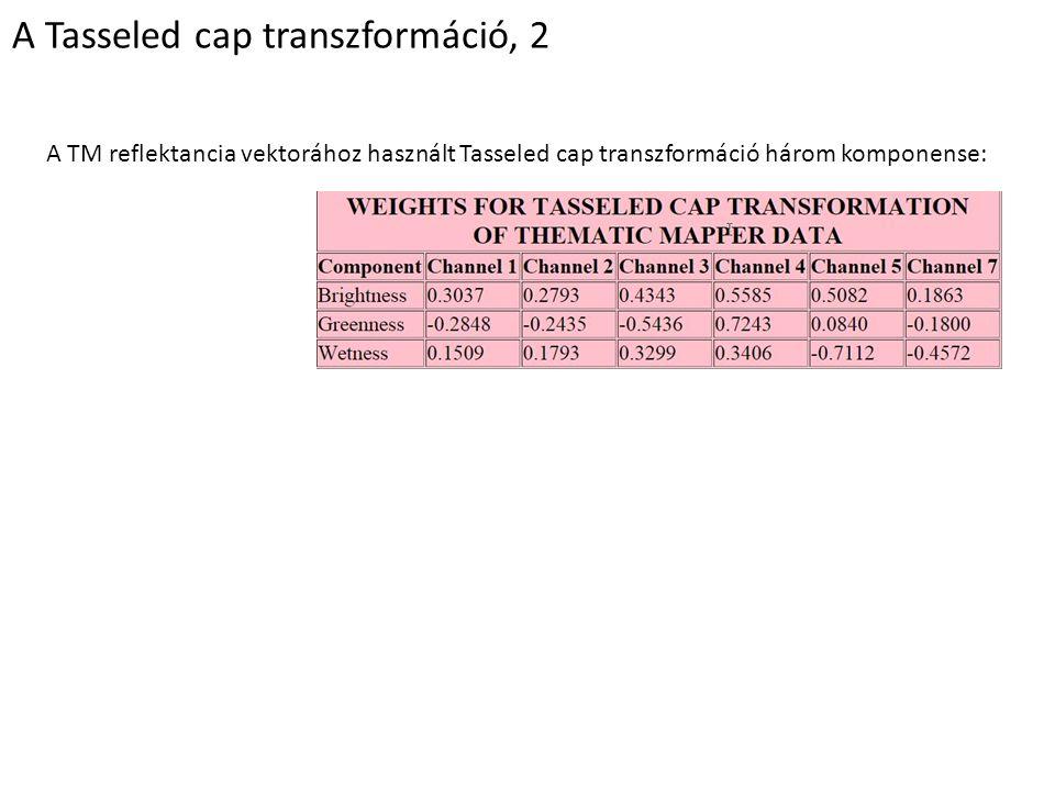 A Tasseled cap transzformáció, 2