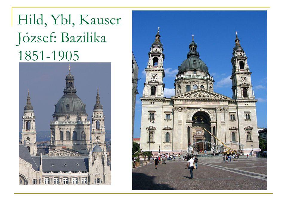 Hild, Ybl, Kauser József: Bazilika 1851-1905