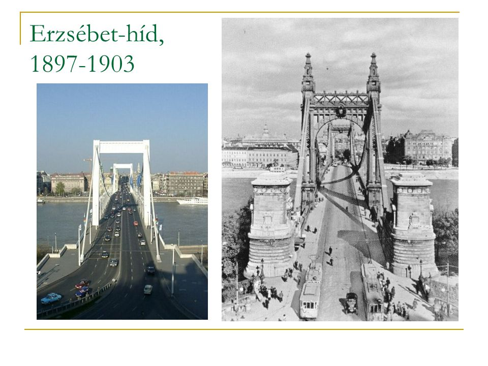 Erzsébet-híd, 1897-1903