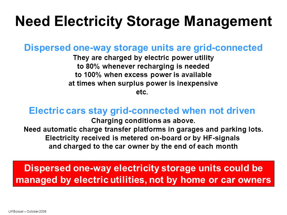 Need Electricity Storage Management