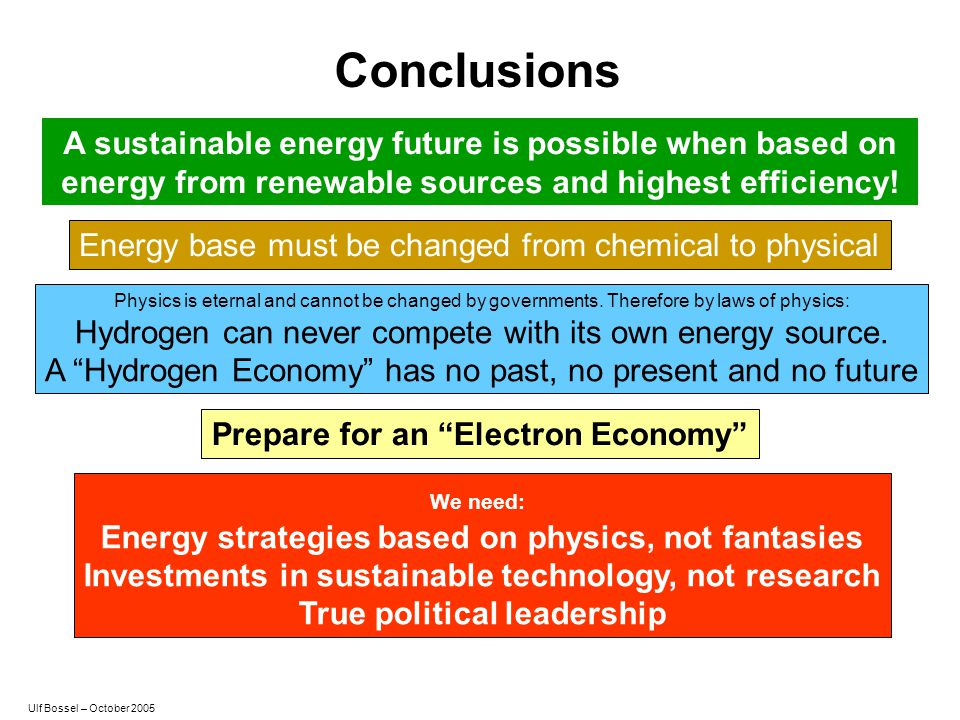 Conclusions A sustainable energy future is possible when based on energy from renewable sources and highest efficiency!