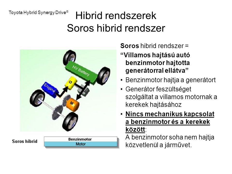 Hibrid rendszerek Soros hibrid rendszer