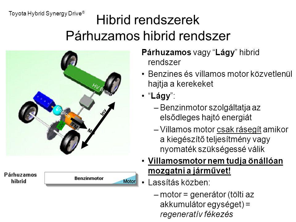 Hibrid rendszerek Párhuzamos hibrid rendszer