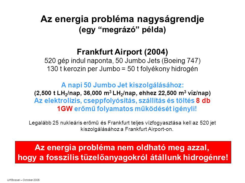 Az energia probléma nagyságrendje