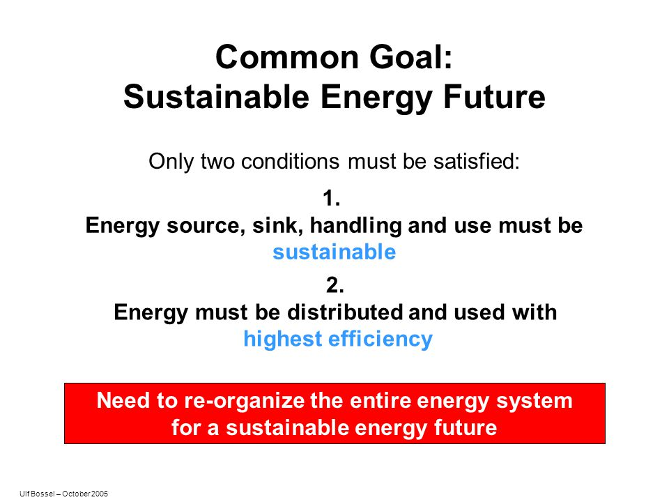 Common Goal: Sustainable Energy Future