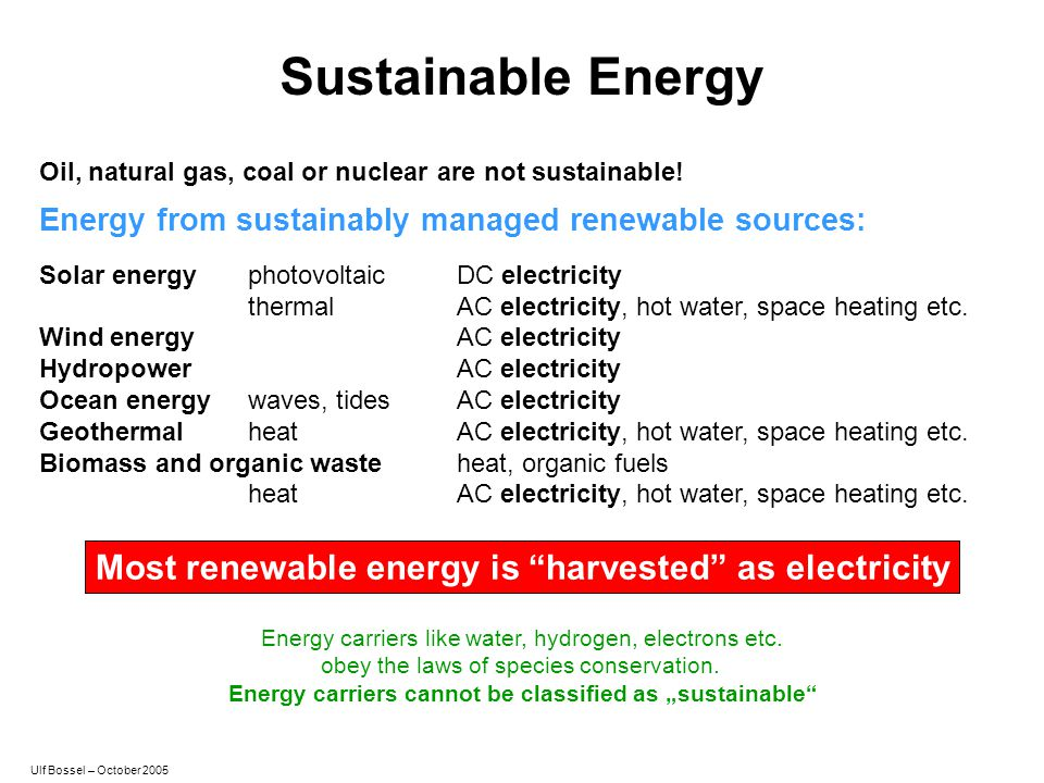 "Energy carriers cannot be classified as ""sustainable"