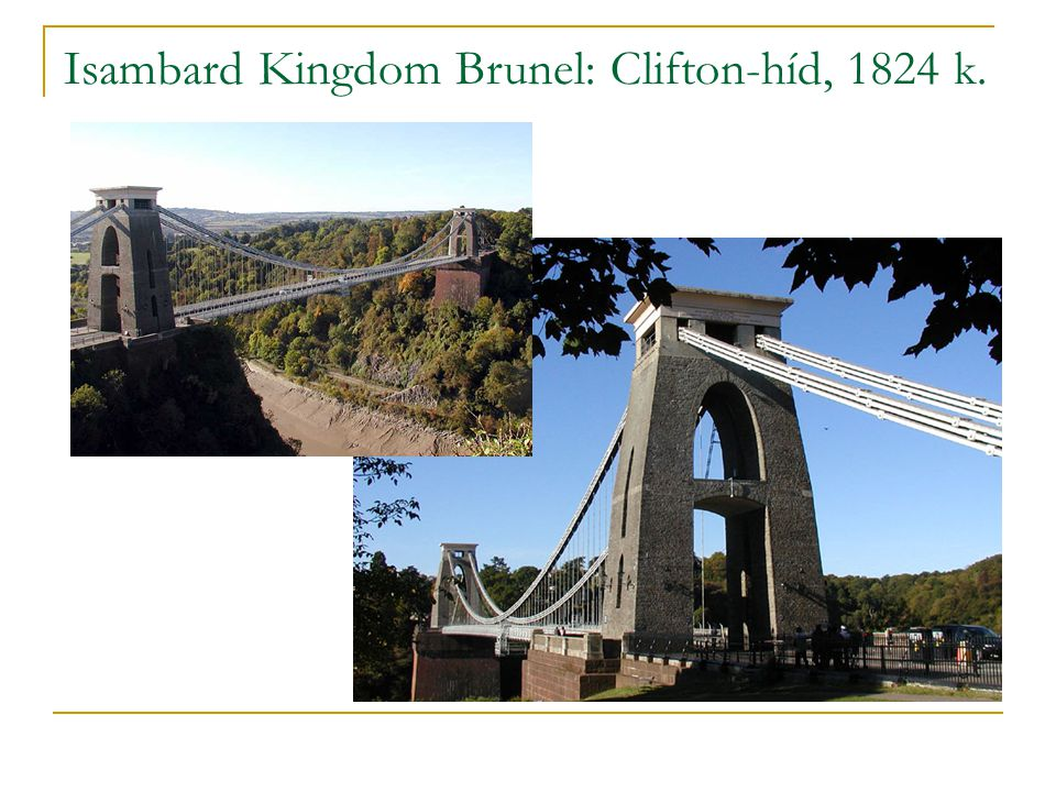 Isambard Kingdom Brunel: Clifton-híd, 1824 k.