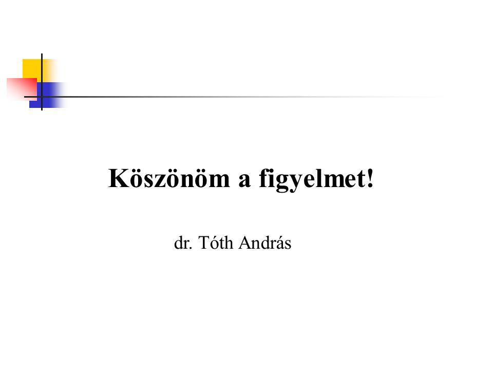 Köszönöm a figyelmet! dr. Tóth András