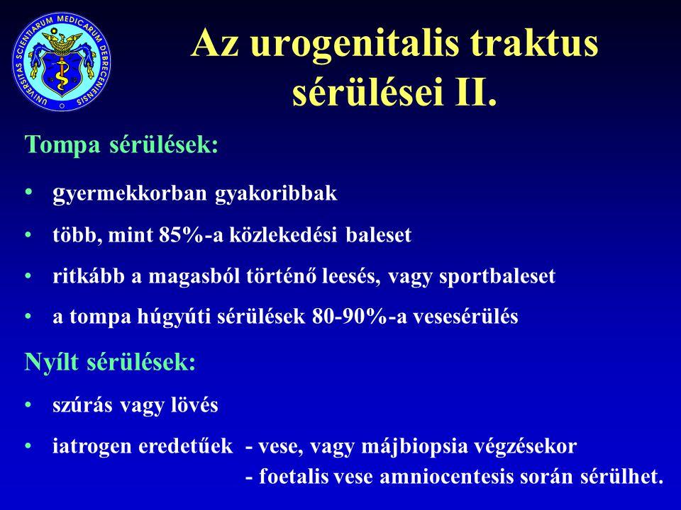 Az urogenitalis traktus sérülései II.
