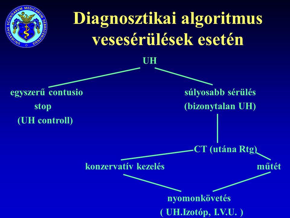 Diagnosztikai algoritmus vesesérülések esetén