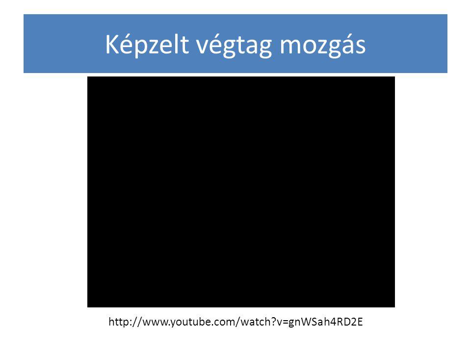 Képzelt végtag mozgás http://www.youtube.com/watch v=gnWSah4RD2E