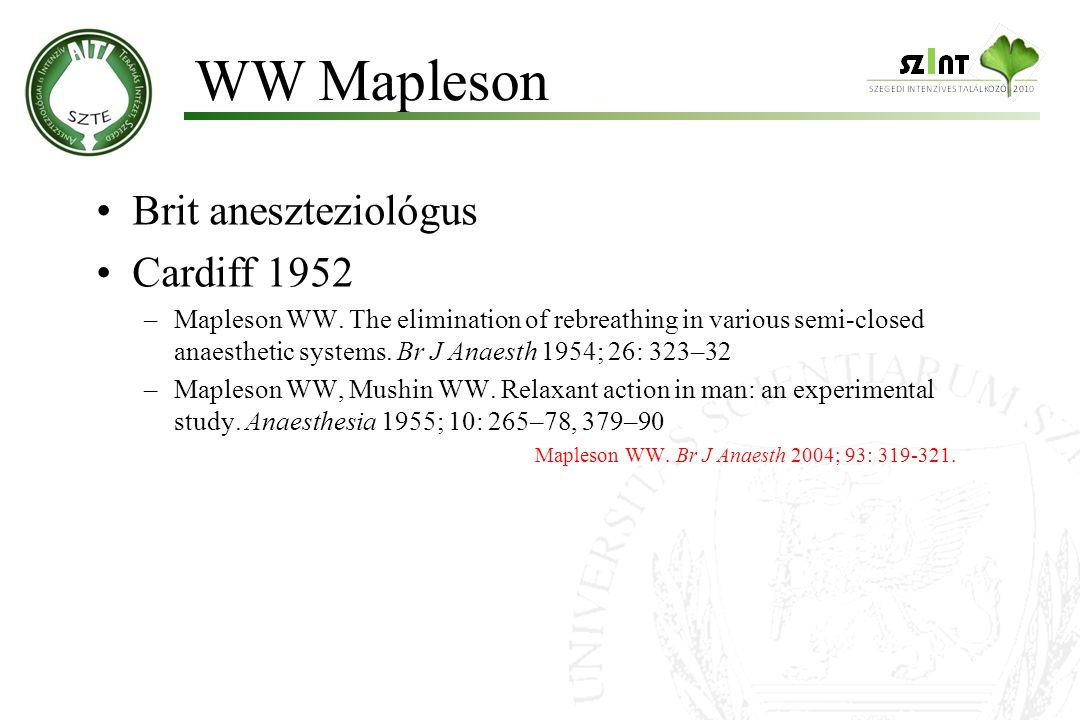 WW Mapleson Brit aneszteziológus Cardiff 1952