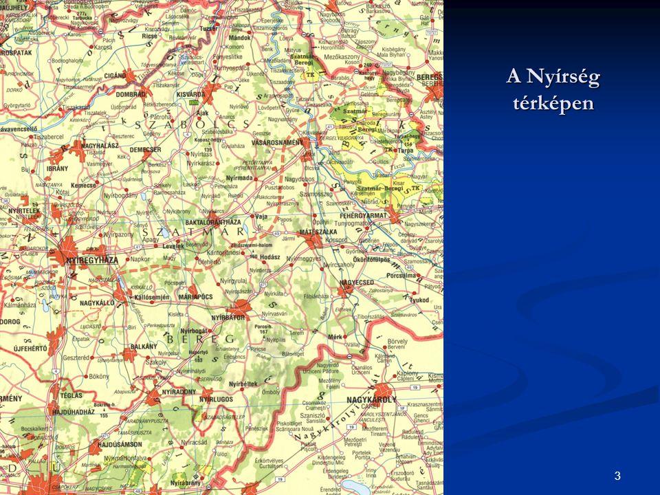 A Nyírség térképen