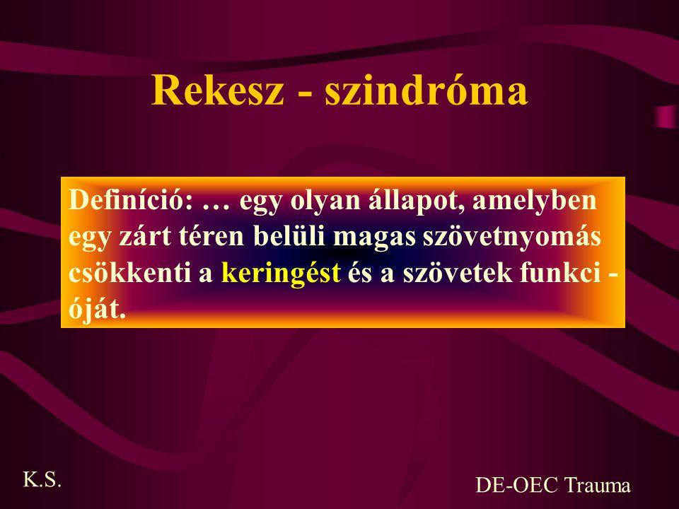 Rekesz - szindróma Definíció: … egy olyan állapot, amelyben
