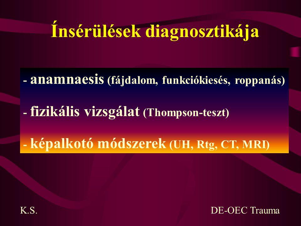 Ínsérülések diagnosztikája