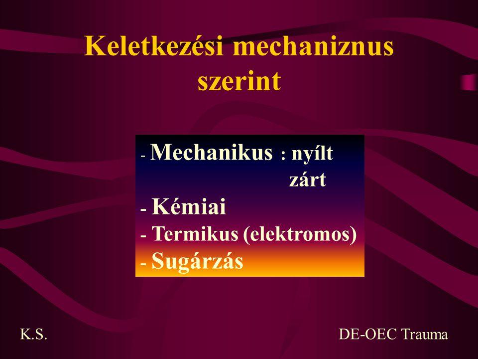 Keletkezési mechaniznus szerint