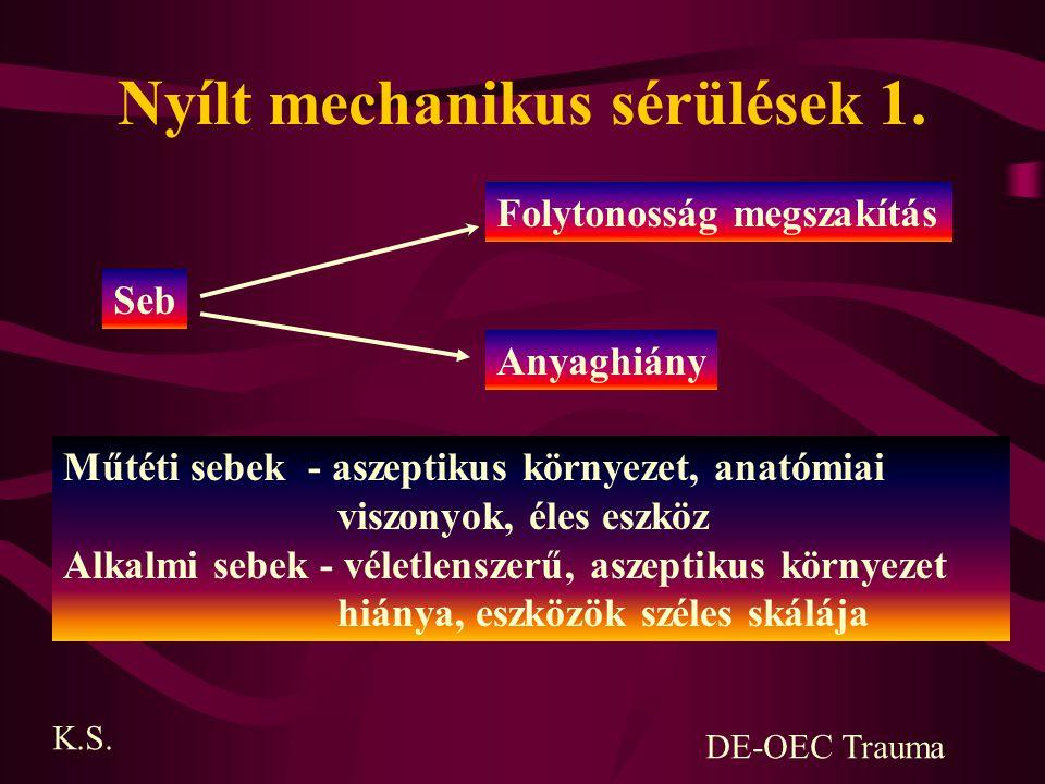 Nyílt mechanikus sérülések 1.