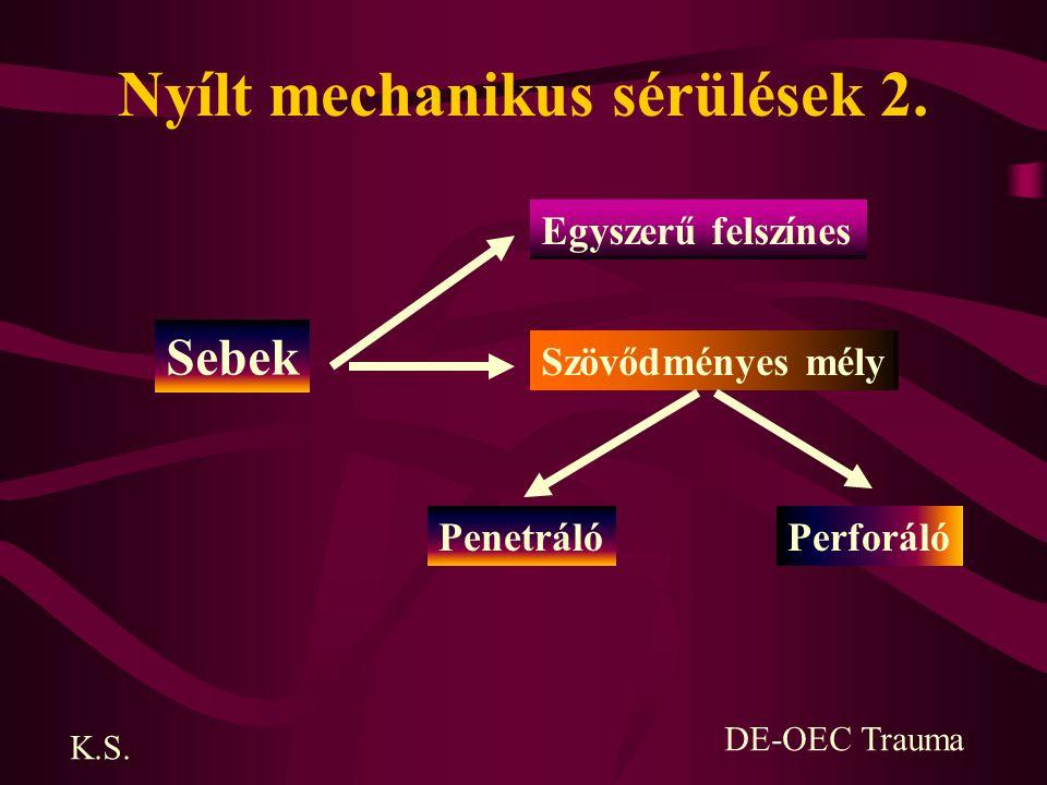 Nyílt mechanikus sérülések 2.
