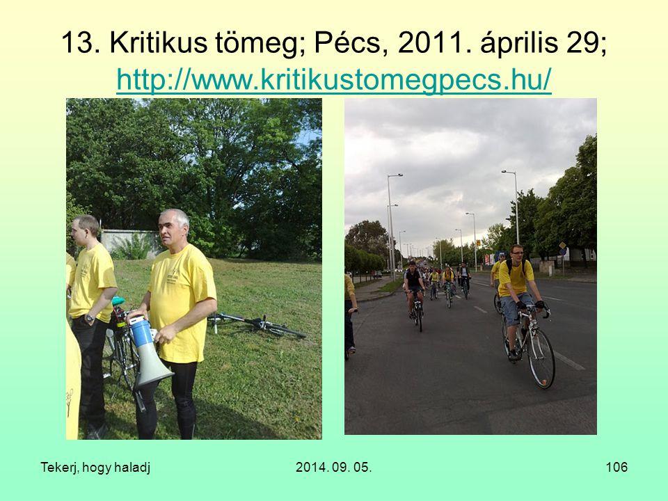 13. Kritikus tömeg; Pécs, 2011. április 29; http://www